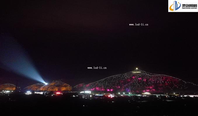 【案例山体亮化】青海省祁连县卓尔山风景区山体亮化成功亮灯