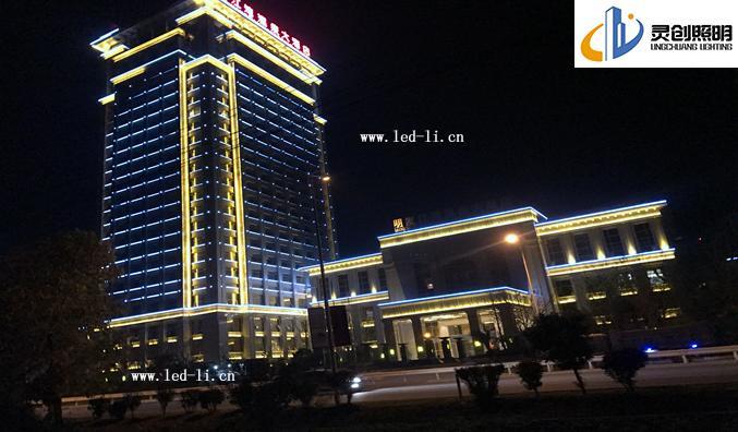 【案例星级酒店】南京市明发江湾温泉大酒店夜景成功亮灯